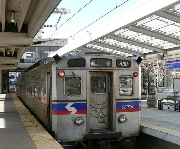 SEPTA train in Philadelphia