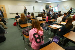 NASCAR Racecar Driver Alex Bowman: Last week, NASCAR racecar driver Alex Bowman stopped by high former high school, Ironwood Ridge, and spoke with the driverÕs education class.  - Randy Metcalf/The Explorer
