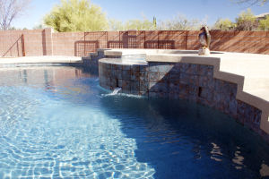 Pools By Design: The company prides themselves in being hands on with the customers and ultimately providing them with a beautiful pool and landscape.  - Hannah McLeod/The Explorer