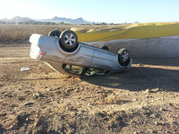 Morning rollover near Tangerine and I-10