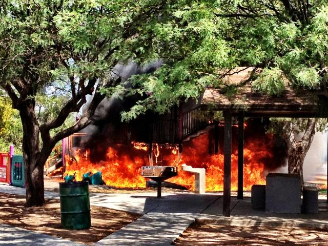 Fire at Catalina Neighborhood Park