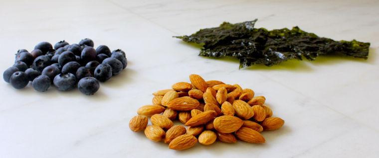 blueberries nuts seaweed