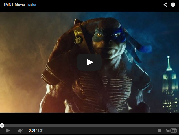 Trailer for the new Teenage Mutant Ninja Turtles movie