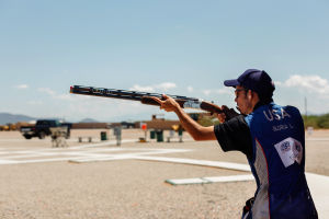 Luis Gloria: Luis Pineda Gloria shoots on average 30,000 to 50,000 rounds per year as part of practice as well as competitions that he participates in. - J.D. Fitzgerald/The Explorer