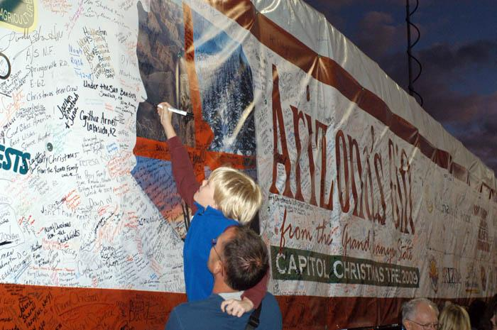 Capitol Christmas tree stops in OV