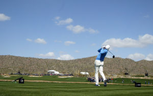 Accenture Match Play Championship: Matt Kuchar tees off on the fourth hole Sunday.  - Randy Metcalf/The Explorer