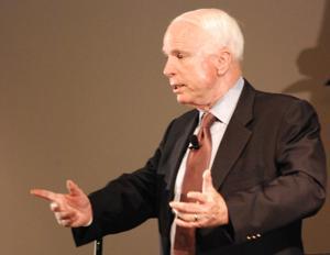 Sen. McCain visits Raytheon