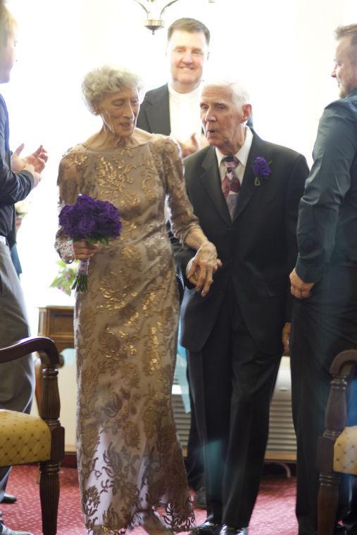 Barbara Burkett and Everett Dougherty's wedding