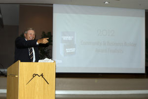 Marana Lunch: Bud Foster from KOLD News 13 read off the award nominees at the luncheon. - Hannah McLeod/The Explorer