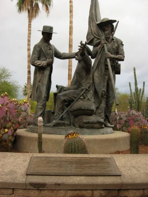 Mormon Battalion Monument: Tucson's monument to the Mormon Battalion. - Courtesy photo