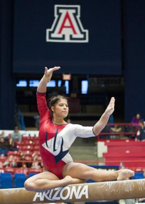 Allie Flores UA gymnastics
