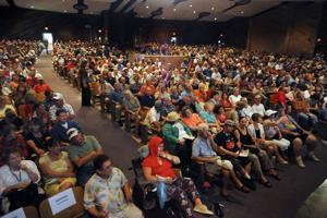 Thousands hear healthcare talk