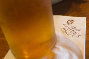 Sippin Socail - Cayton's Burger Bistro: Beers on draft at Cayton's Burger Bistro, like this Saison Blue by Dragoon, which is normally $6.75, is $3.50 during happy hour. - Randy Metcalf/The Explorer