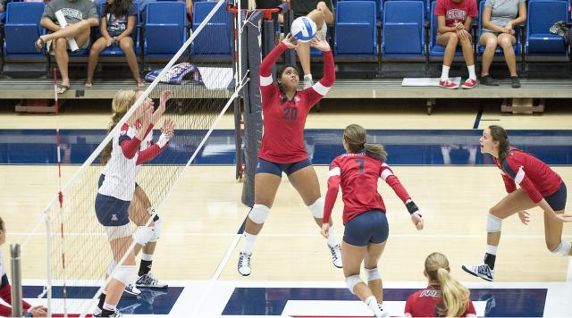 University of Arizona volleyball scrimmage