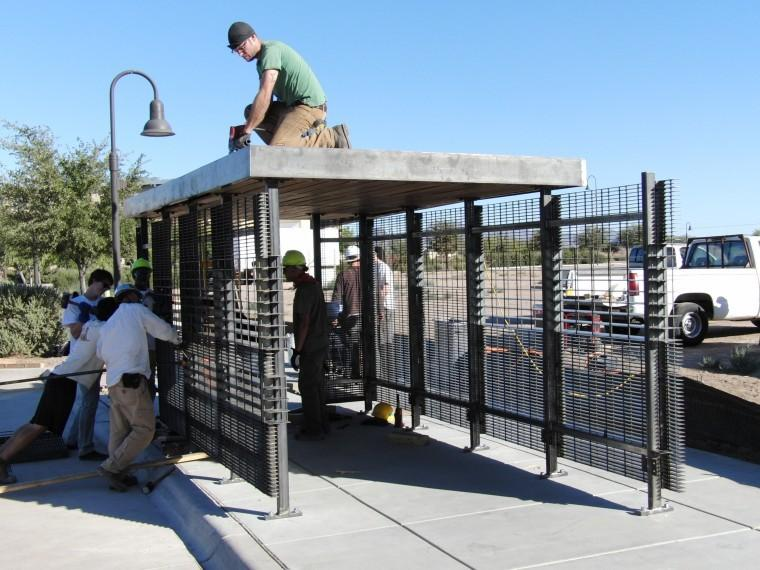 Two new bus shelters are being installed in Marana