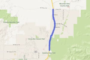 Utility Work Begins On Oracle Road: The moving of utility lines has begun to take place along Oracle Road between Tangerine Road and the Pima and Pinal county line in preparation for the Oracle Road widening project. - Google Maps