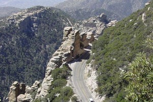 Mount Lemmon Road: The road heading up Mount Lemmon. - Debby Kriegel/Special to the Explorer