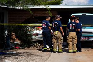 Car collides into house