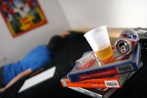 Binge Drinking 1: The dangers of teen drinking are endless, especially when something goes wrong. The alcohol slows down the entire body, and the ability to make good decisions is lost. If someone passes out, or there is an emergency, no one knows what to do, said a representative from the Northwest Fire District.  - Randy Metcalf/The Explorer