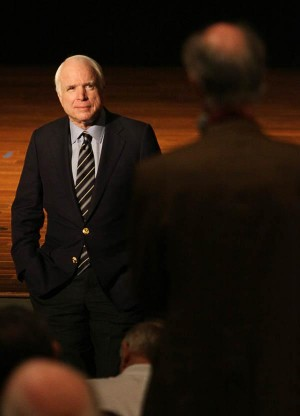 John Mccain: U.S. Sen. John McCain.  - Randy Metcalf/The Explorer
