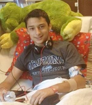 Austin Thacker: Austin Thacker, local eighth grader struggling with cancer, remains in high spirits.  - Courtesy photo