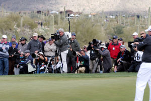 Accenture Match Play Championship: Dozens of media outlets were covering the Accenture Match Play Championship this past week.  - Randy Metcalf/The Explorer