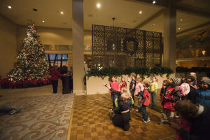 Hilton El Conquistador Tree Lighting Ceremony: The children helped to countdown to the lighting of the Christmas tree at the Hilton El Conquistador in Oro Valley. - Randy Metcalf/The Explorer