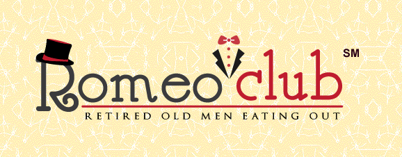 Retired men sample local foods