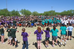 Drug Awareness Day: Every fifth grader in Oro Valley attended the Drug Awareness Day at Riverfront Park last Friday.  - Randy Metcalf/The Explorer