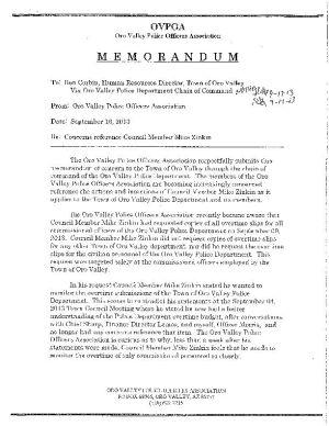 Public records regarding Mike Zinkin recall