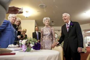 Barbara Burkett and Everett Dougherty's wedding