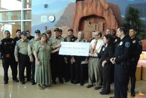 Marana cops give big to Diamond Children's Hospital