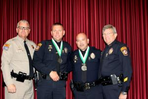 Oro Valley Police Department lieutenants honored as life savers by Department Public Saftey