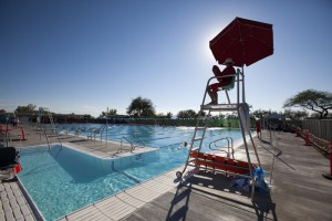Oro Valley Aquatic Center: Lifeguard Nicholas McNutt watches over the Oro Valley Aquatic Center's pool.  - Randy Metcalf/The Explorer