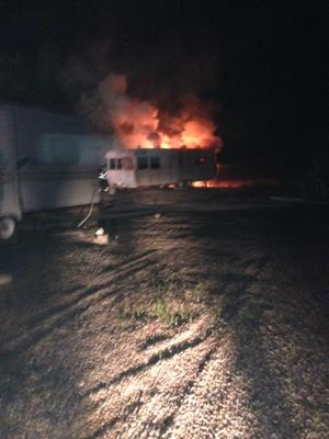 Travel Trailer Fire