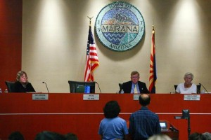 Marana Town Council: Marana Town Council. - Randy Metcalf/The Explorer