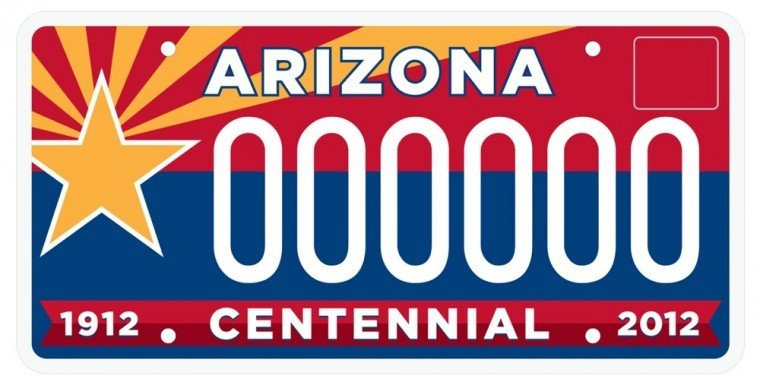 State Centennial License Plate