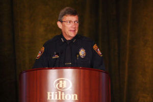 OV Chamber Commerce: Oro Valley Police Chief Danny Sharp received the Chamber's Legacy Award. - Hannah McLeod/The Explorer