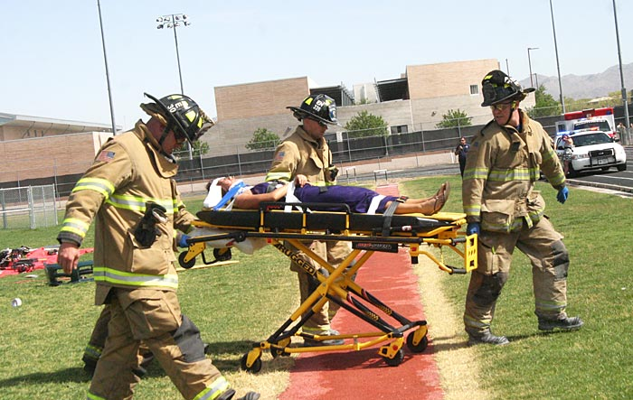 Mock accident 1