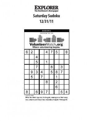 Saturday Sudoku 12-31-11