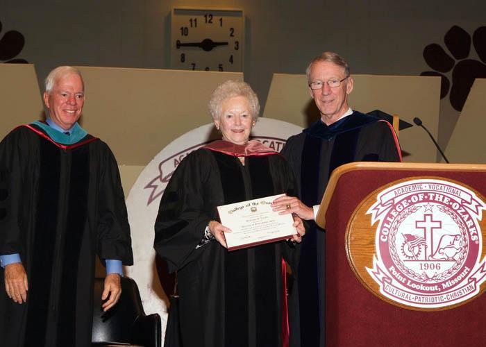 Northwest's Dorothy Vanek earns an honorary doctorate