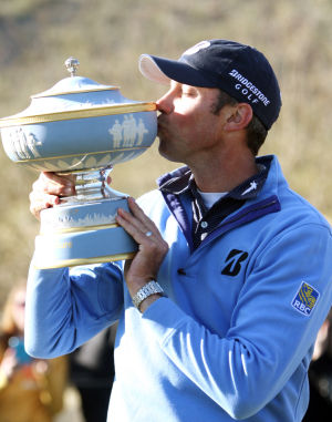 Accenture Match Play Championship: Matt Kuchar was awarded the Walter Hagen Cup after winning the Accenture Match Play Championship Sunday.  - Randy Metcalf/The Explorer