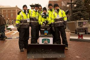 OU engineering students three-peat at autonomous snowplow competition