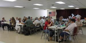 <p>Pictured are many Vinton County seniors enjoying a meal at the Senior Center. The Center hosted an Open House Appreciation on May 24 to thank supporters of the recent levy.</p>