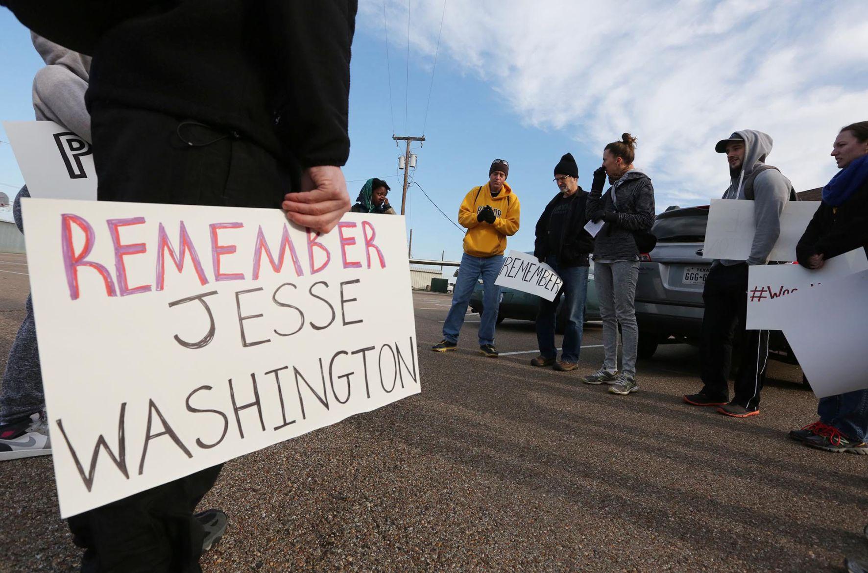 Jesse Washington march photo