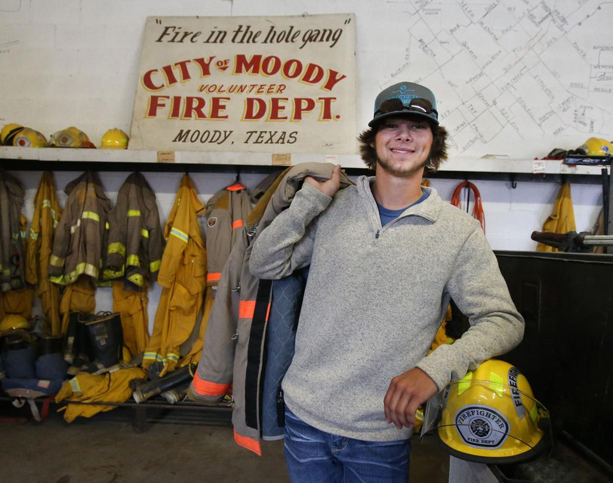 moody high student serves as small town s youngest firefighter branson aycock