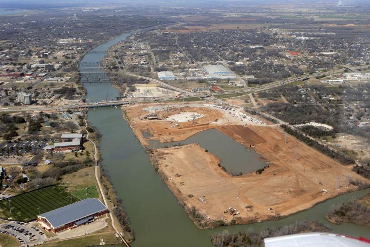 Baylor stadium new aerial views on the brazos sports wacotrib com