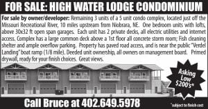For Sale:  High Water Lodge Condominium