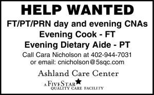 Ashland Care Center - CNA, cook