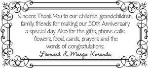Thank You - Koranda